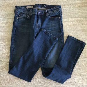 AG Stevie petite slim straight jeans